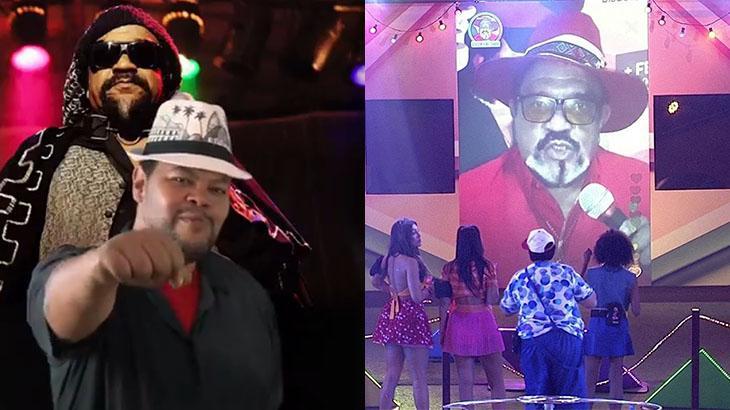 Babu Santana homenageia Gerson King Combo - Foto: Montagem/Reprodução/Twitter/TV Globo