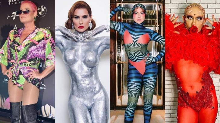 Xuxa, Deborah Secco, Fernanda Paes Leme e Silvero Pereira no Baile da Vogue - Foto: Instagram/Reprodução