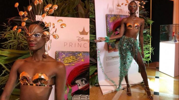 Mariane Calazan vestiu figurino confeccionado com resíduos recolhidos nos oceanos - Divulgação