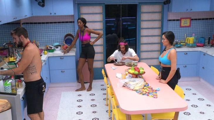 Camilla, Arthur, Fiuk e Juliette na cozinha da Xepa