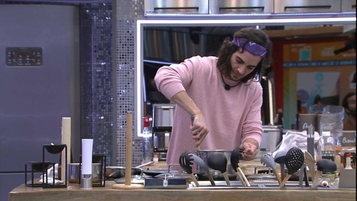 Fiuk cozinha no VIP do BBB21