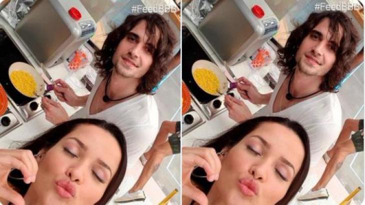 Fiuk e Juliette preparam cuscuz nordestino na cozinha