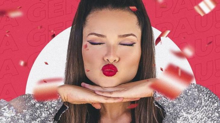Monatagem de Juliette mandando beijo