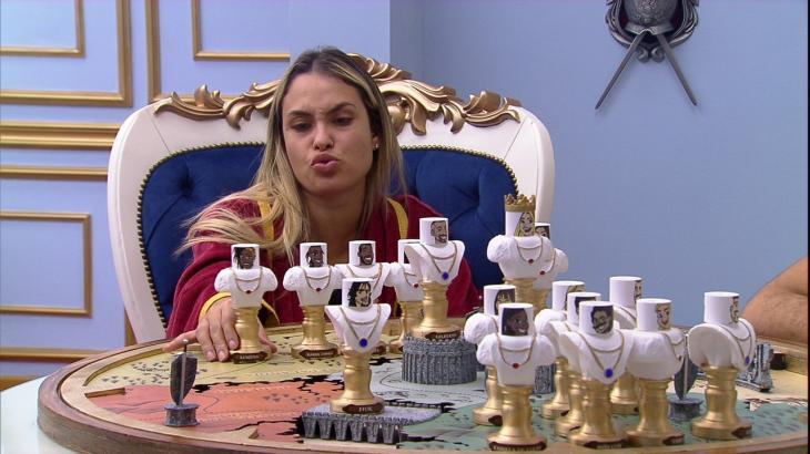 Sarah Andrade no quarto do líder do BBB21