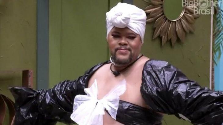 Babu foi maquiado e se vestiu de mulher no BBB20
