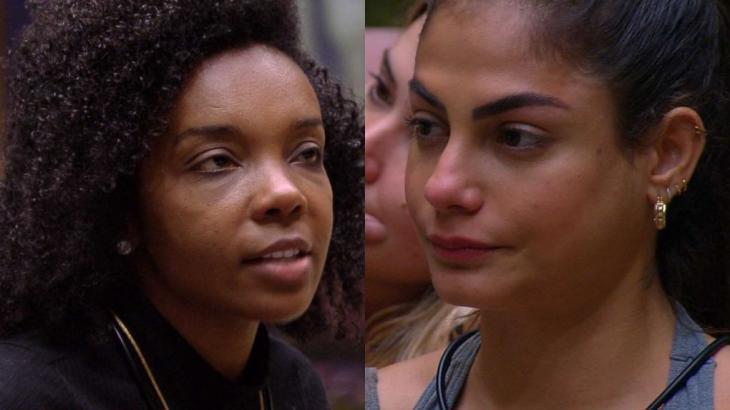No BBB20, Thelma e Mari ficaram mais de 26 horas na Prova do Líder - Fotos: Reprodução/Globo