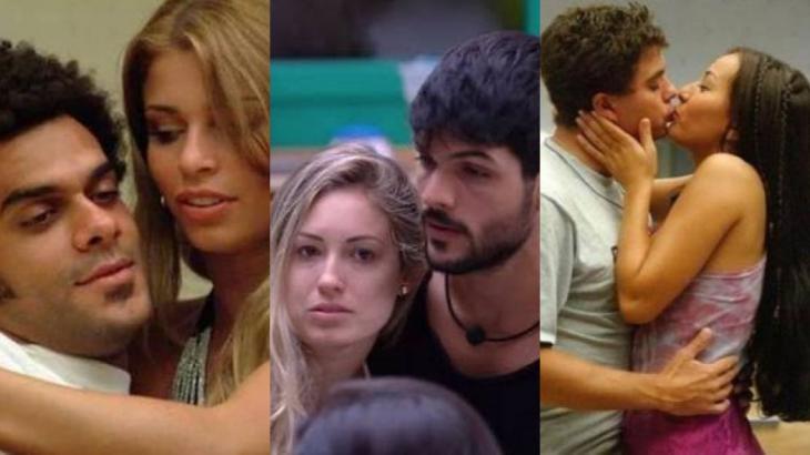 Alan e Grazi, Jéssica e Lucas, Dhomini e Sabrina: quando o affair no BBB supera relacionamentos fora da casa - Montagem NT