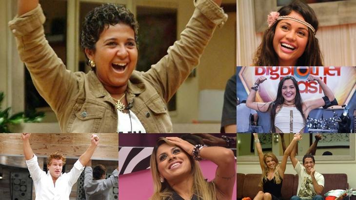 Saiba como estão alguns dos campeões do Big Brother Brasil, reality show exibido pela TV Globo. (Reprodução/Montagem)