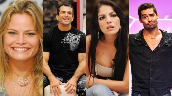 Natália, Dourado, Anamara e Yuri tiveram segunda chance no reality show (Fotos: Globo/Reprodução)