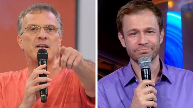 Pedro Bial e Tiago Leifert