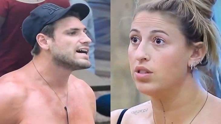 Guilherme Leão e Bifão durante o reality show A Fazenda 2019 (Reprodução/RecordTV/Montagem)