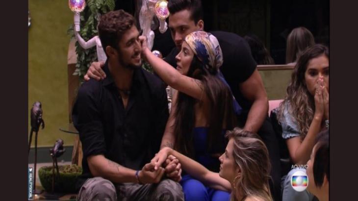 Lucas Chumbo perdeu o embate com Bianca Andrade, a Boca Rosa, e tornou-se o primeiro eliminado do BBB20 - Globo