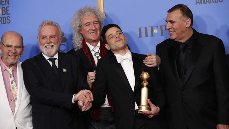 Filme sobre Freddie Mercury foi um dos grandes destaques da noite