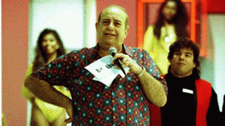 Bolinha no comando de seu programa Clube do Bolinha, que fez história na TV
