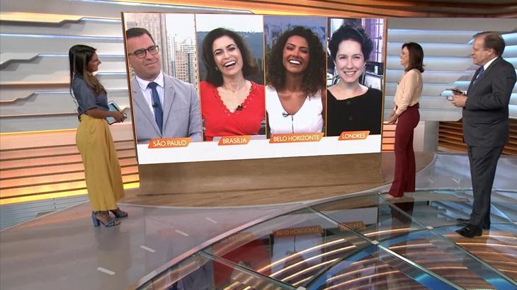 Aline Aguiar contou novidade no Bom Dia Brasil - Foto: Reprodução/Globo