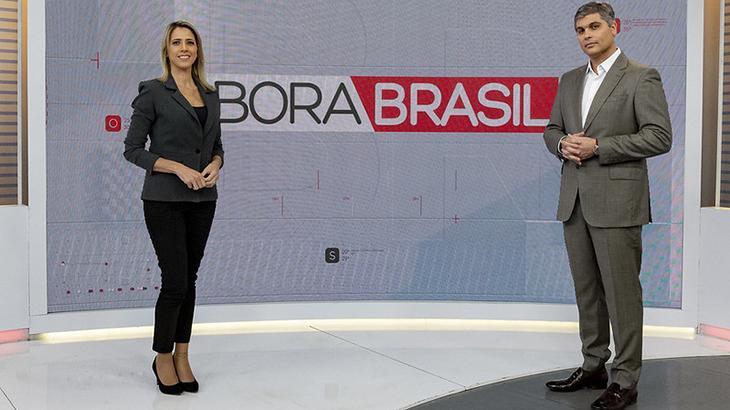 Joel Datena e Laura Ferreira vão apresentar o Bora Brasil - Fotos: Kelly Fuzaro/Band