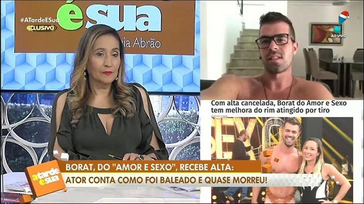 Sônia Abrão e Borat no A Tarde é Sua