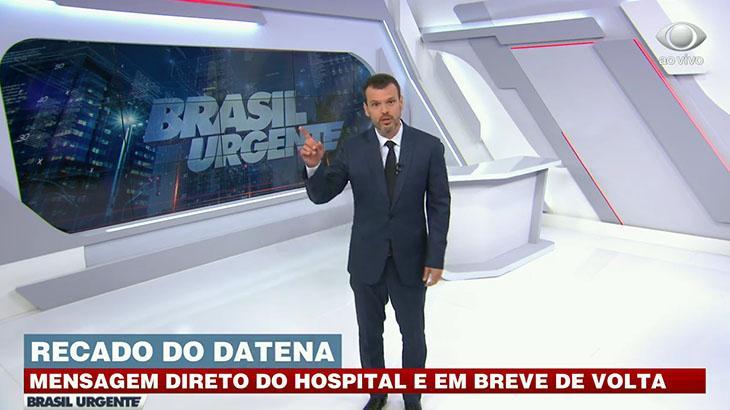 Repórter substitui Datena e ganha bolo de Cátia Fonseca