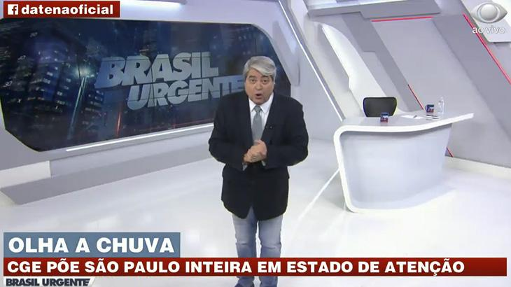 José Luiz Datena apresenta o Brasil Urgente desta quarta-feira (18)