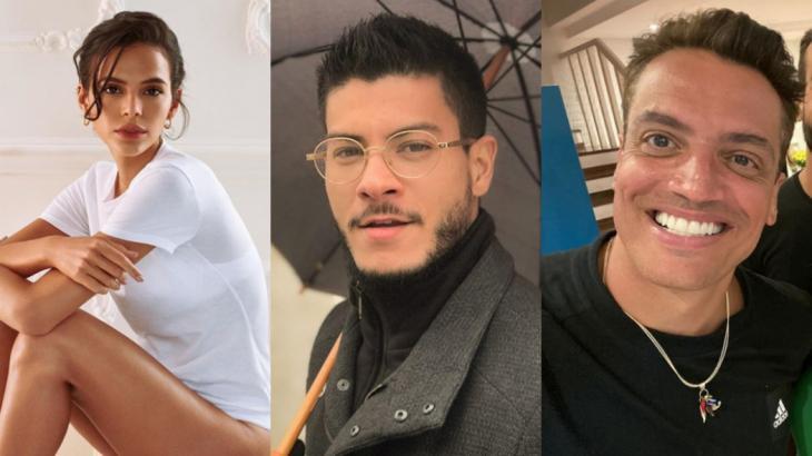 Bruna Marquezine, Arthur Aguiar e Leo Dias: barraco