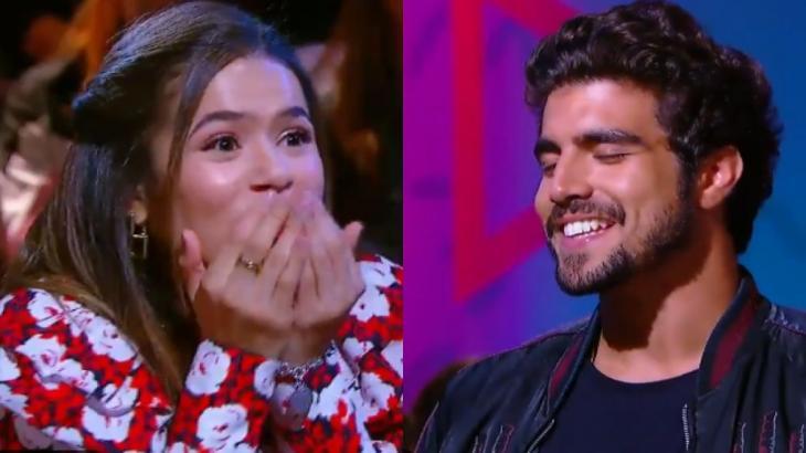 Caio Castro relembra beijo em atriz com bafo: