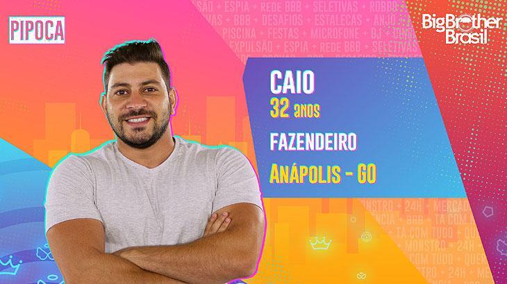 O fazendeiro Caio tem 32 anos e é natural de Anápolis, em Goiás