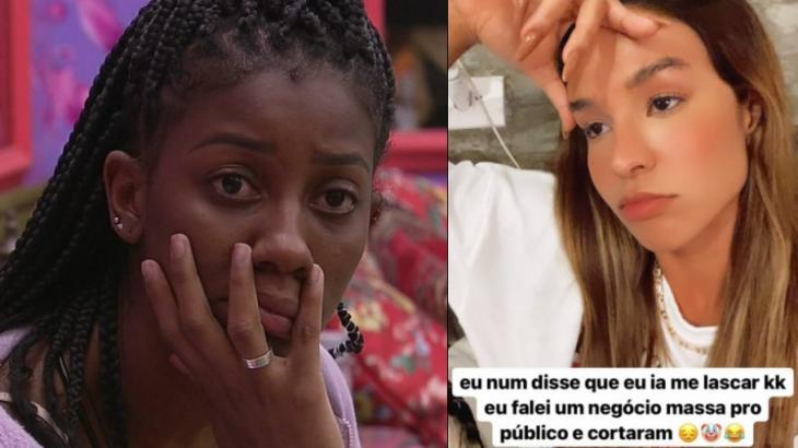 Camilla de Lucas e Kerline reclamam de edição da Globo no Dia 101 do BBB21