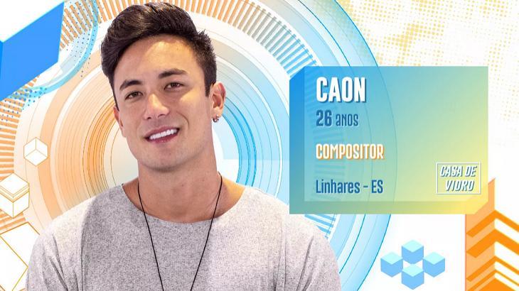 Caon participou da Casa de Vidro - Divulgação/TV Globo