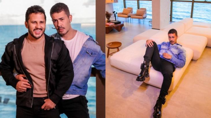 Carlinhos Maia e o marido Lucas Guimarães exibem apartamento de luxo em Maceió