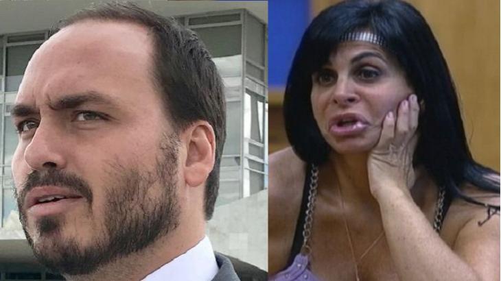 Gretchen volta a brigar com Carlos Bolsonaro:
