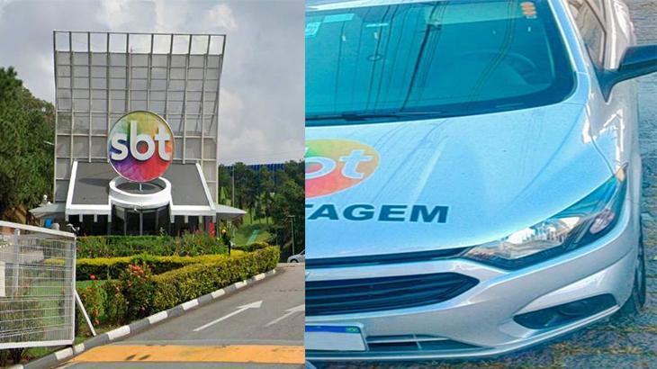 Sede do SBT e carro da emissora