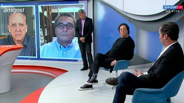 Casagrande e Caio Ribeiro discutiram - Foto: Reprodução/SporTV