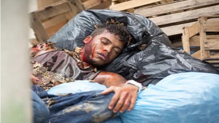 Cascudo é encontrado todo machucado em Totalmente Demais - Reprodução/TV Globo