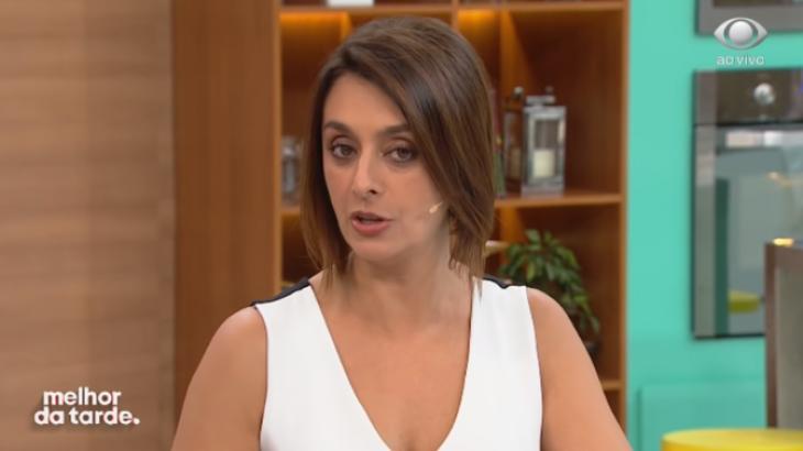 A apresentadora Catia Fonseca durante o programa Melhor da Tarde, exibido pela Band - Reprodução/Band