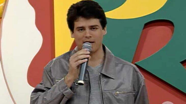 Celso Portiolli em seu primeiro programa