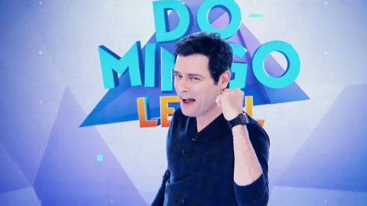 Celso Portiolli vem beliscando a Globo nos últimos domingo - Reprodução/SBT