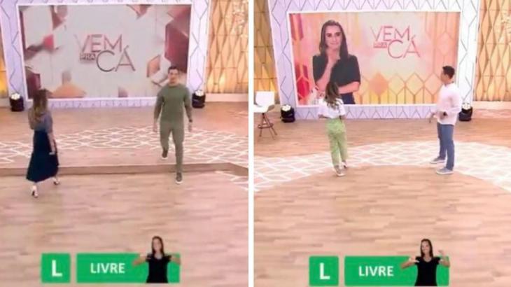 Após Patrícia Abravanel levar tombo ao vivo, SBT muda cenário do Vem pra Cá