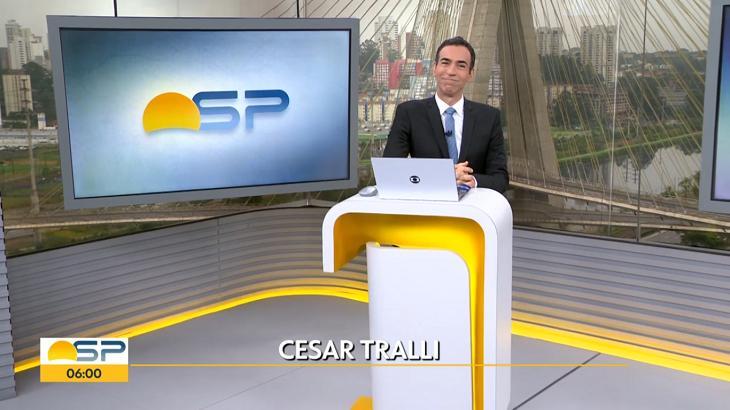 César Tralli no Bom Dia SP - Foto: Reprodução/Globo