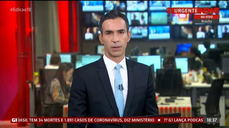 César Tralli foi uma das novidades da GloboNews em março
