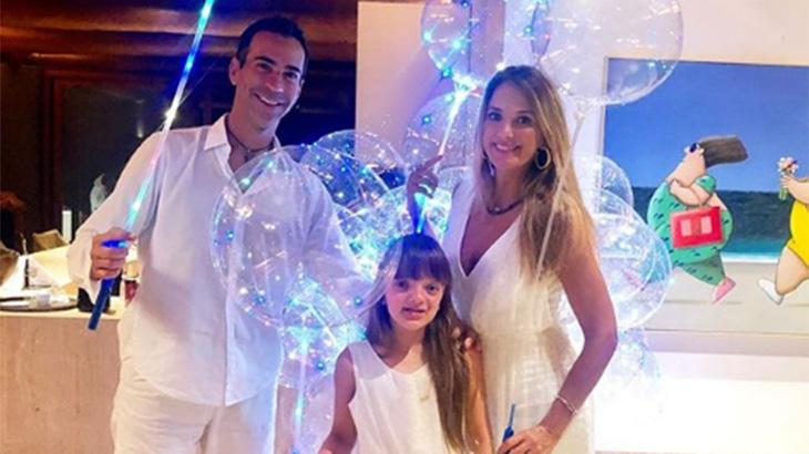 Ticiane já é mãe de Rafaella, fruto do relacionamento que teve com Roberto Justus