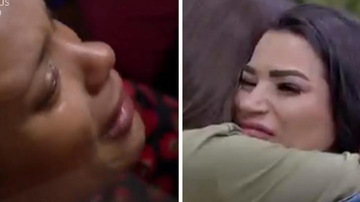 Lidi e Raissa chorando em A Fazenda 2020