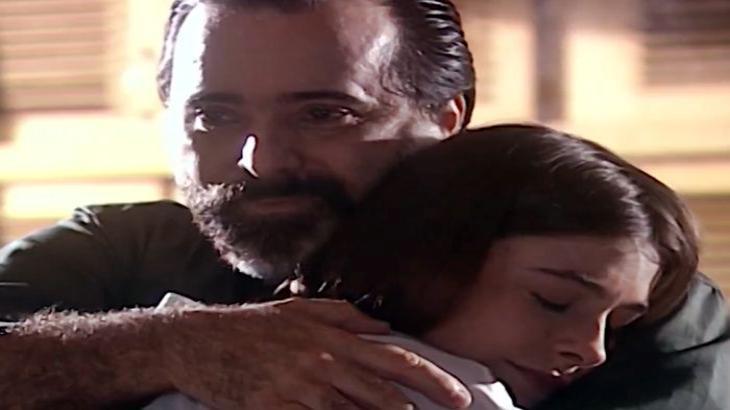 Miguel e Ciça abraçados