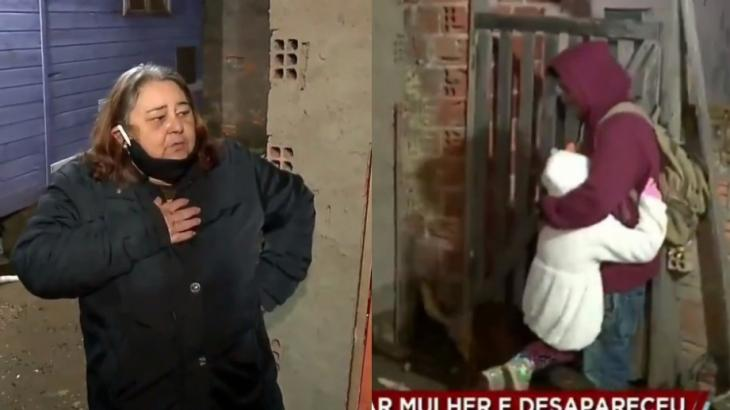 Ao vivo no Cidade Alerta, mãe ficou aliviada e furiosa com retorno do filho dado como desaparecido - Foto: Reprodução