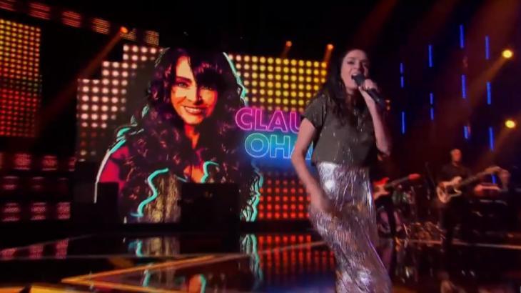 Apesar de baixas notas, Claudia Ohana foi elogiada pelos jurados (Foto: Globo/Reprodução)