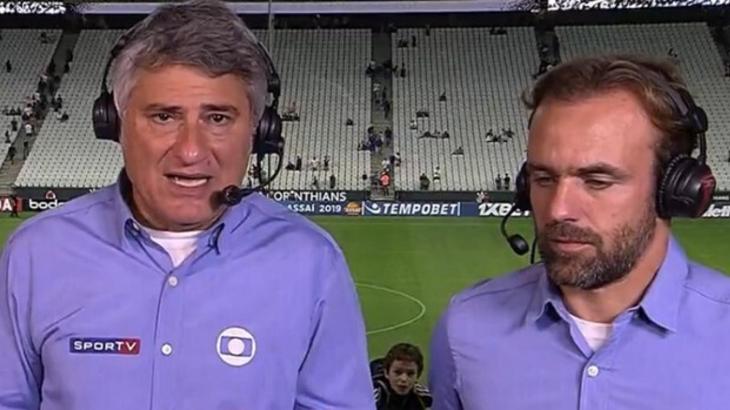 Cléber Machado e Roger Flores - Reprodução/PFC