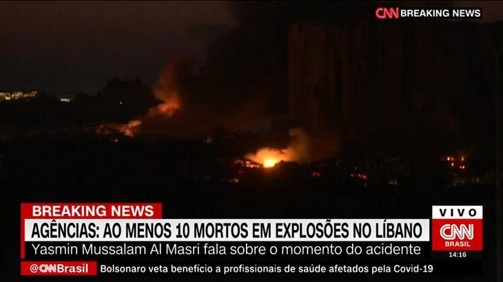 CNN Brasil abordou explosão no Líbano - Foto: Reprodução