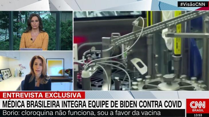 CNN Brasil sai na frente e entrevista médica brasileira escolhida por Biden contra Covid