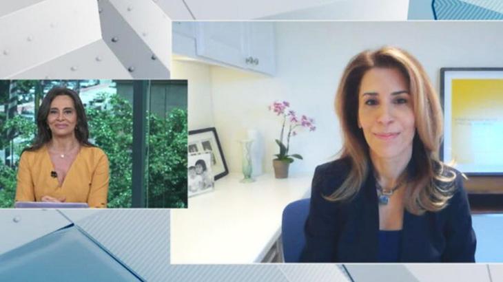 Carla Vilhena entrevistando Luciana Borio na CNN Brasil