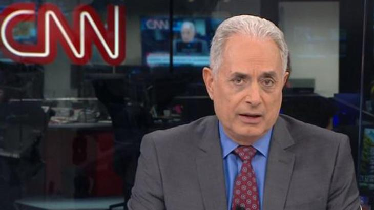 William Waack à frente do Jornal da CNN