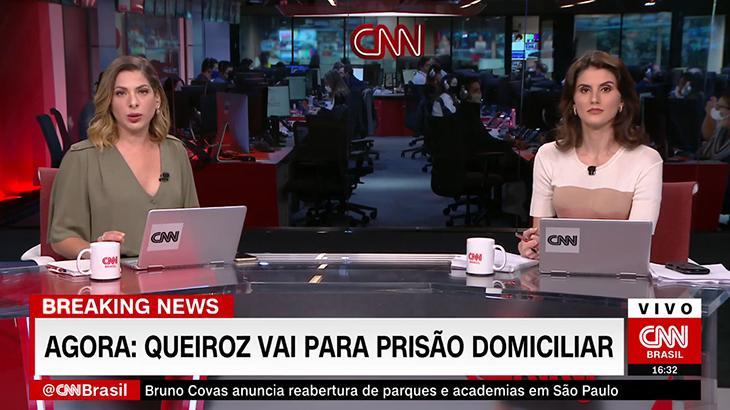 CNN Brasil é a primeira emissora a noticiar prisão domiciliar de Fabrício Queiroz (Foto: Reprodução/CNN Brasil)
